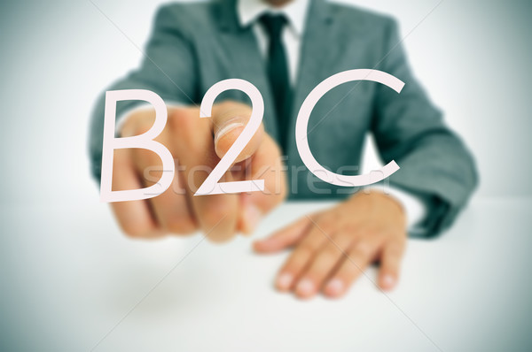 B2C, business-to-consumer Stock photo © nito