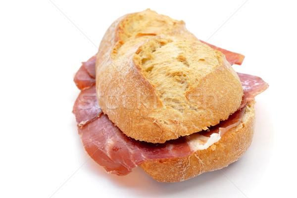Espagnol serrano jambon sandwich blanche Photo stock © nito