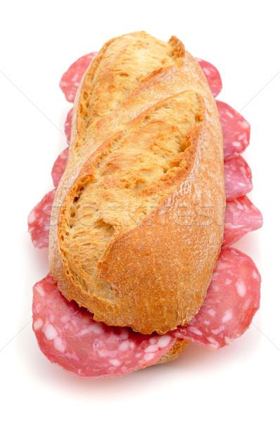 spanish bocadillo de salchichon, a sandwich with spanish salami Stock photo © nito