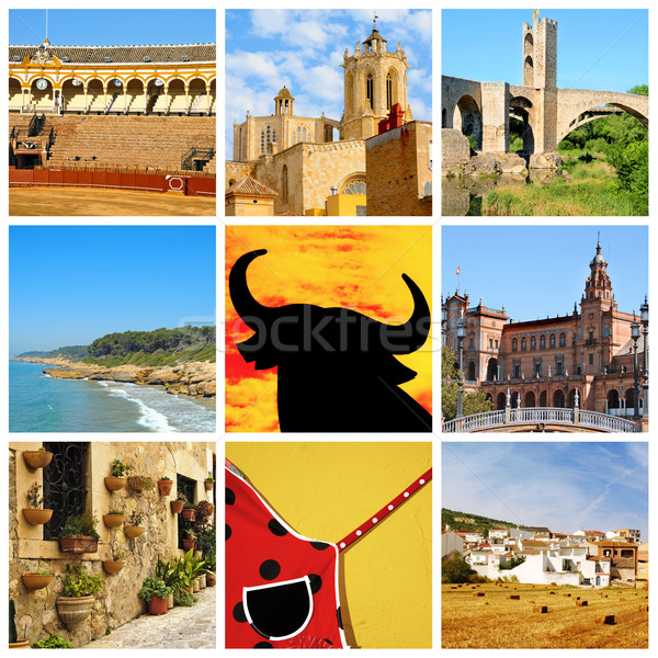 Spanish collage Stock photo © nito