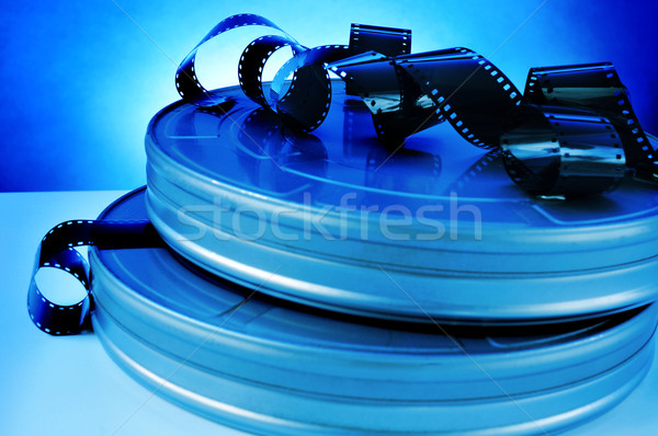 Film film film reel strips metaal tabel Stockfoto © nito