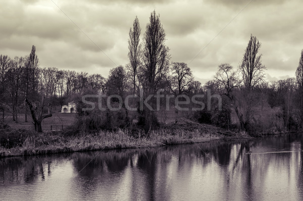 Long Water and Kensington Gardens in Hyde Park in London, UK, in Stock photo © nito