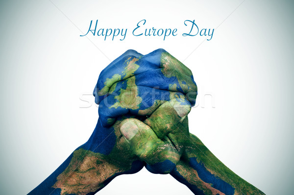 happy europe day Stock photo © nito