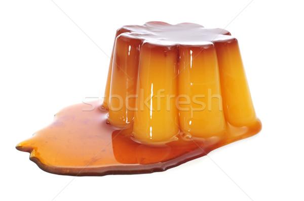 Karmel sos biały żywności tle deser Zdjęcia stock © nito