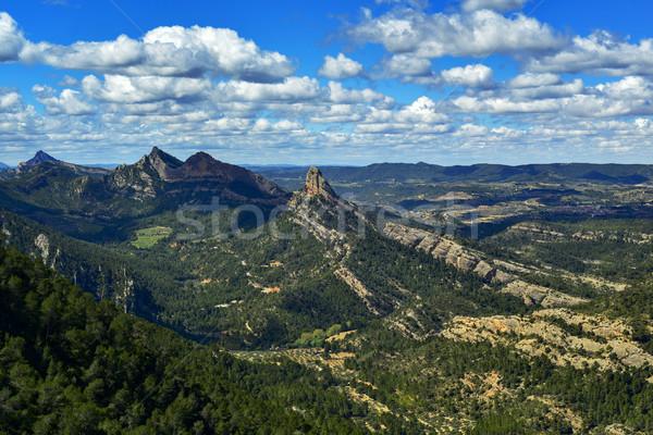 Serres de Pandols-Cavalls mountain range in Spain Stock photo © nito
