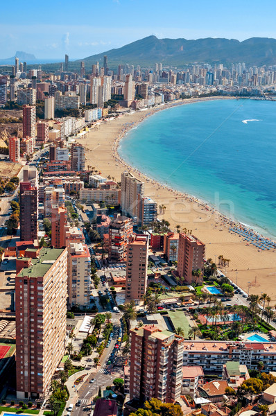 aerial view of Benidorm, Spain Stock photo © nito