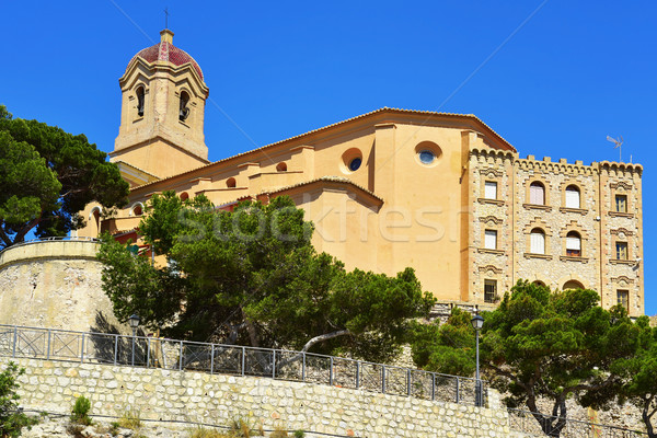 Sanctuary of the Virgen del Castillo, in Cullera, Spain Stock photo © nito