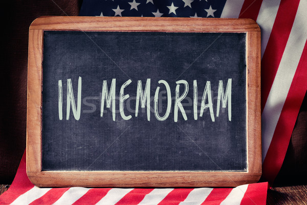 text in memoriam and flag of the United States Stock photo © nito