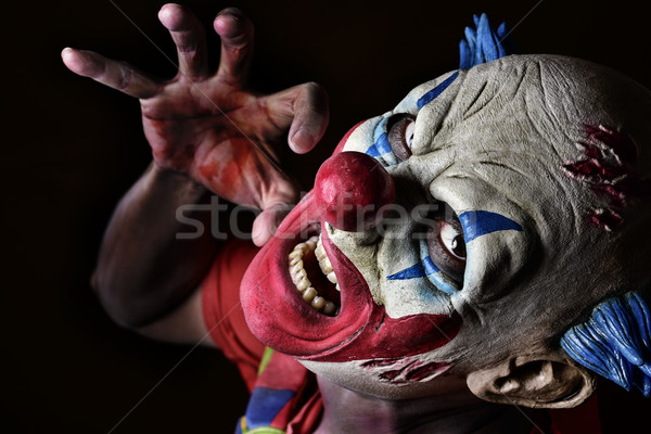 Scary зла клоуна черный весело Сток-фото © nito