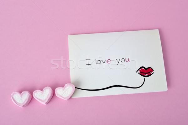 Stockfoto: Tekst · liefde · briefkaart · eigengemaakt · geschreven · papier
