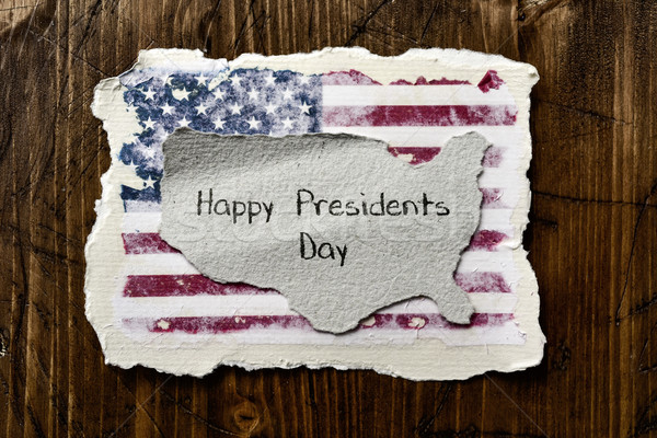 flag of the US and text presidents day Stock photo © nito