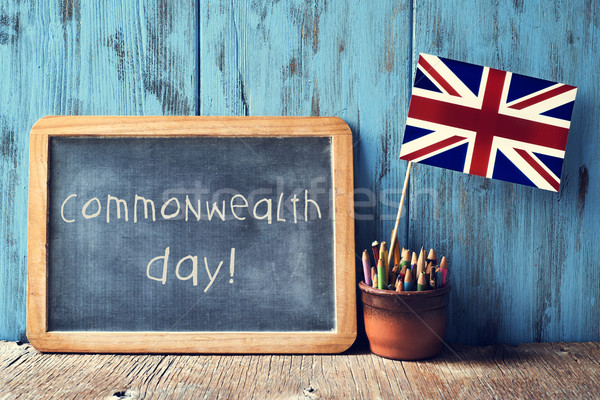 text commonwealth day in a chalkboard Stock photo © nito