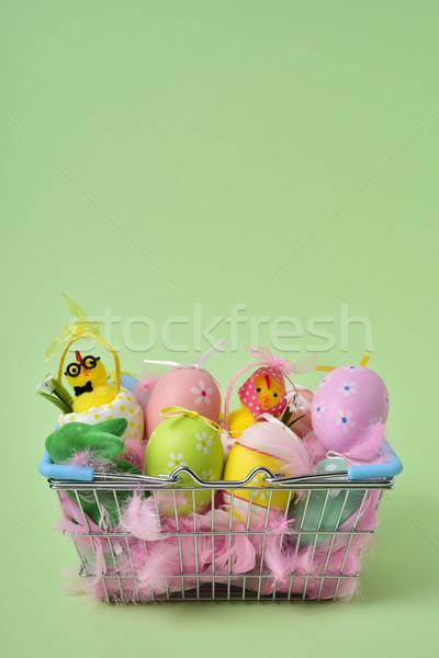 Stock fotó: Díszített · húsvéti · tojások · különböző · színek · köteg · pár