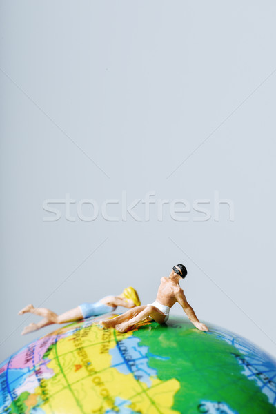 Miniatuur man vrouw zwempak top Stockfoto © nito
