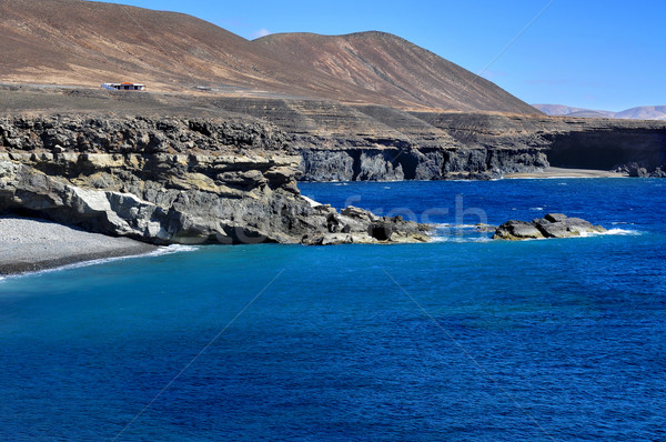 Ajuy coast in Fuerteventura, Canary Islands, Spain Stock photo © nito