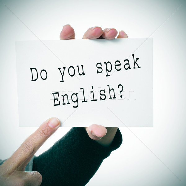do you speak english? Stock photo © nito