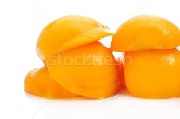 peaches in syrup Stock photo © nito