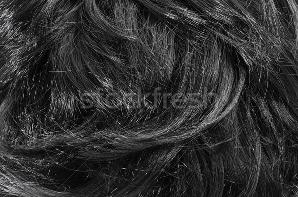 closeup of black hair Stock photo © nito