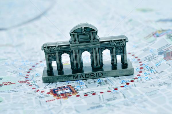 Madryt Hiszpania miniatura Pokaż miasta ściany Zdjęcia stock © nito