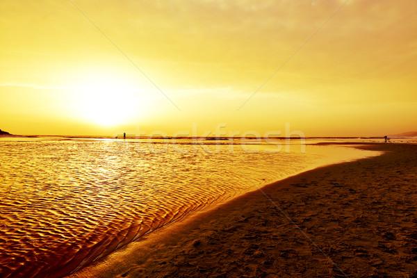 sunset at Lances Beach in Tarifa, Spain Stock photo © nito