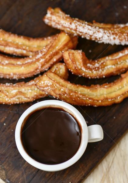 Chocolade typisch spaans zoete snack shot Stockfoto © nito