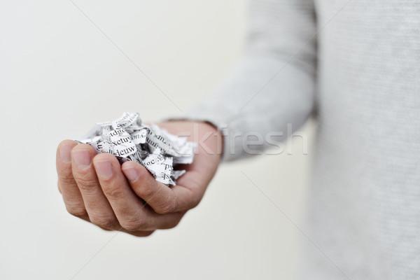 Document gebroken duizend stukken jonge Stockfoto © nito