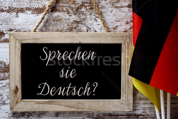 question do you speak German? in German Stock photo © nito