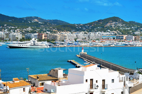 port of Ibiza Town, in Ibiza, Balearic Islands, Spain Stock photo © nito