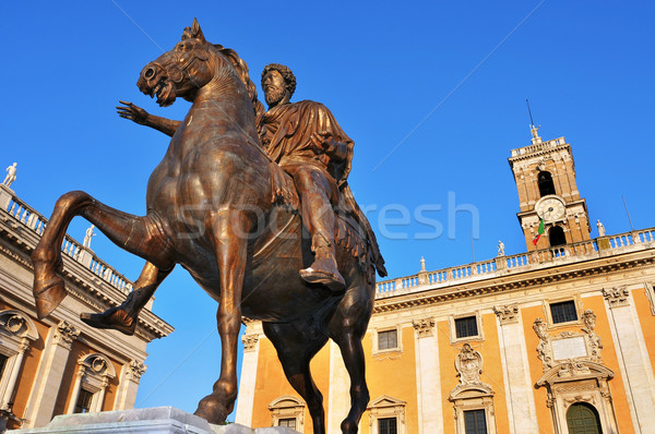 Piazza del Campidoglio, in the Capitoline Hill, in Rome, Italy Stock photo © nito
