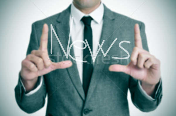 Stock photo: news