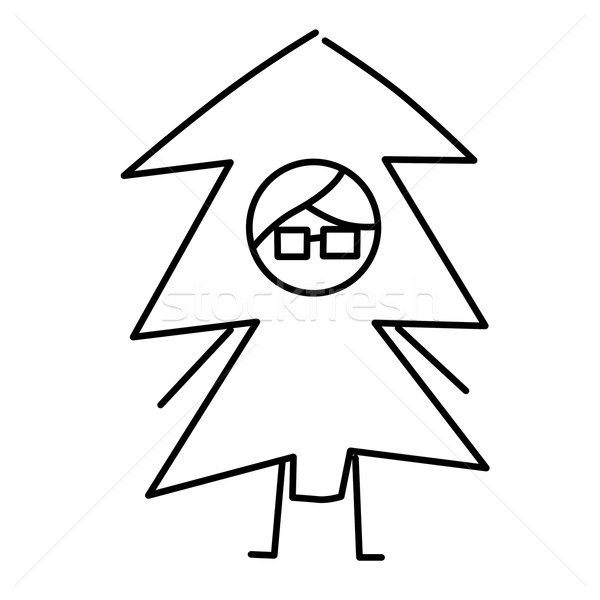 guy with a christmas tree costume Stock photo © nito