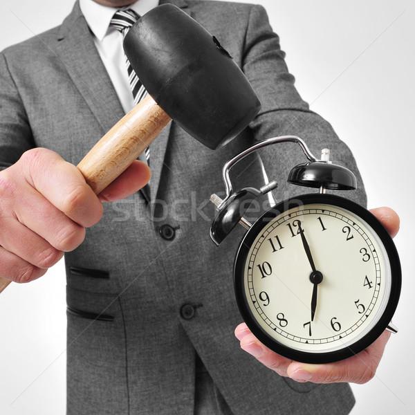 broking an alarm clock Stock photo © nito