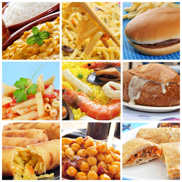 international dishes collage Stock photo © nito