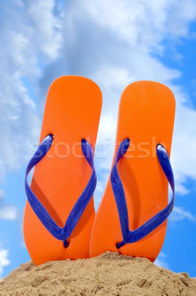 flip-flops on the beach Stock photo © nito