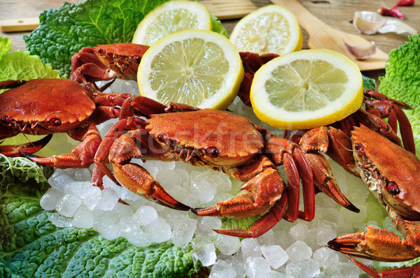 raw velvet crabs Stock photo © nito