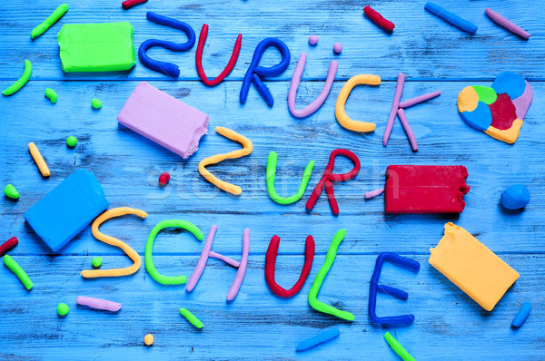 zuruck zur schule, back to school written in german Stock photo © nito