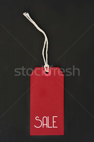 word sale in a red paper label Stock photo © nito