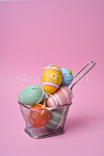 decorated easter eggs of different colors Stock photo © nito