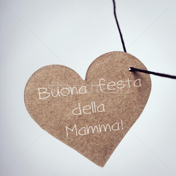 buona festa della mamma, happy mothers day in italian Stock photo © nito