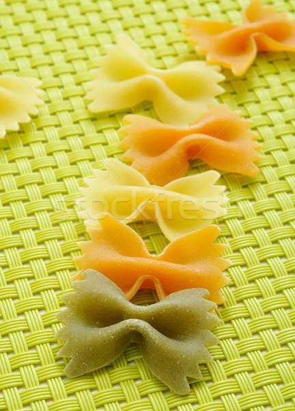 Stock photo: uncooked vegetables farfalle