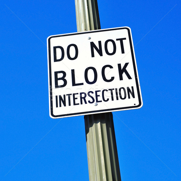 do not block intersection sign Stock photo © nito