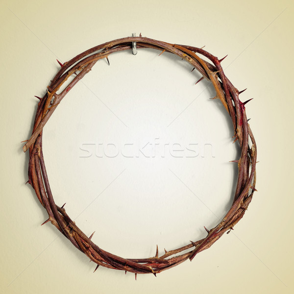 the Crown of Thorns of Jesus Christ, with a retro effect Stock photo © nito