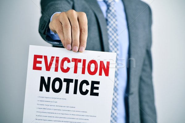 man with an eviction notice Stock photo © nito