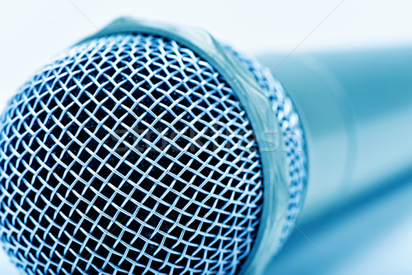 microphone, in blue toning Stock photo © nito