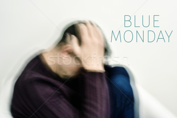 sad man and text blue monday Stock photo © nito