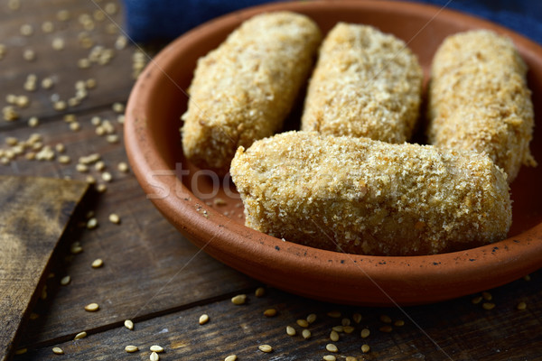 uncooked croquetas, spanish croquettes Stock photo © nito