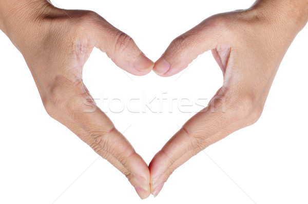 woman hands forming a heart Stock photo © nito