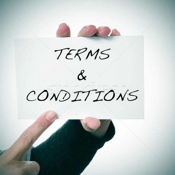 signboard with the text terms and conditions Stock photo © nito