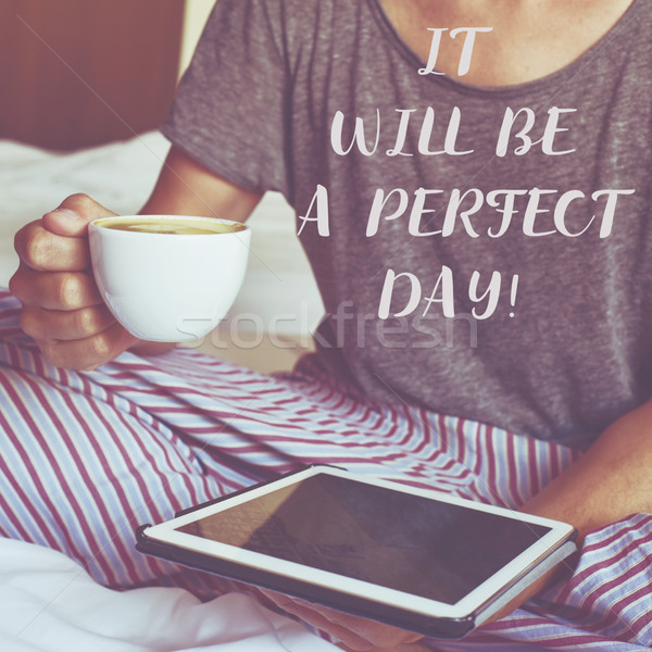 text it will be a perfect day Stock photo © nito