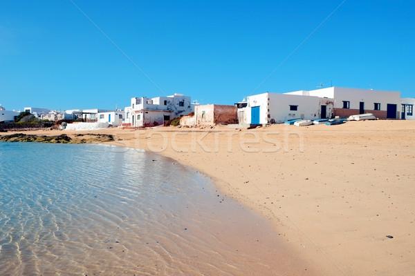 Caleta del Sebo in La Graciosa, Canary Islands, Spain Stock photo © nito